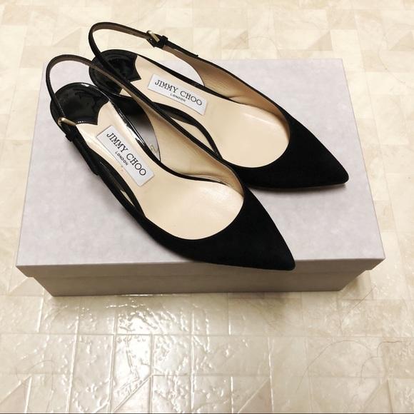 e1aab0857 Jimmy Choo Shoes | 40mm Gemma Suede Slingback | Poshmark